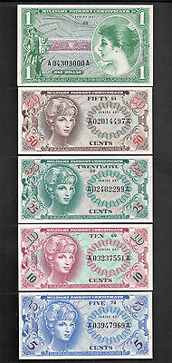 Series 651 Uncirculated Short Set Military Payment Certs Issued April 28, 1969