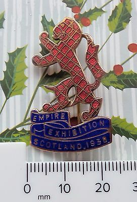 Quality 1938 Empire Exhibition Scotland Uk Gb Maker Stratton Pin Badge Brooch