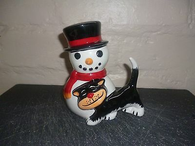 Lorna Bailey Snowman With Cat