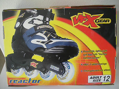 Vfx Gear Reactor Rollerblades Adult Size 12 New In Box