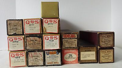 QRS Player Roll Melodee and Eighty Eight Note Song Rolls Lot of 16 Rolls