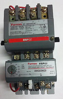 NEW Siemens Furnas Size 1 Magnetic Motor Starter 14DSB32AA ESP100 WITH 48ASB3M20