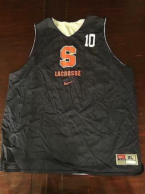 Syracuse Lacrosse Team Issued Reversible Practice Pinnie  #10 From 2015