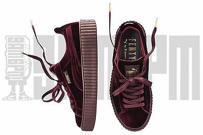 Puma VELVET CREEPERS 3 4 5 6 7 RIHANNA FENTY ROYAL PURPLE burgundy red leather
