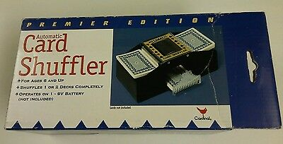 Cardinal Premier Edition Automatic Battery Operated 1-2 Deck CARD SHUFFLER