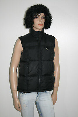 Fred Perry Piumino Smanicato Gilet Vest Goose Down Donna Woman Tg.36 Casual H173