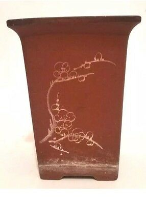 Antique Chinese Yixing Clay Planter Calligraphy