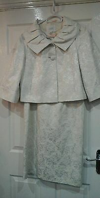 louis charlies  dress and jacket size 14. Ivory  and silver.