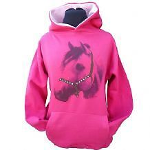 Horse with attitude childrens Hoodie - Pink 5 - 6 yrs