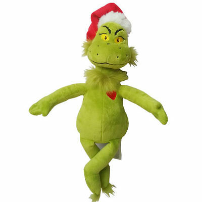 "15""/39cm Dr Seuss How the Grinch Stole Christmas with Santa Hat Plush Toys New"