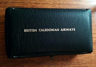 British Caledonian Airways mens grooming set in pouch