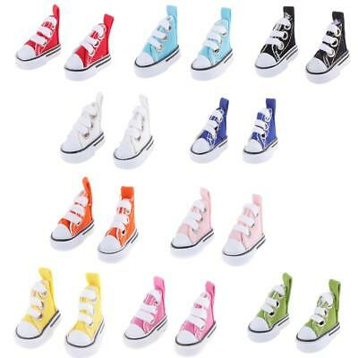 1/6 Cute Lace Up Canvas Shoes Fits 12inch Barbie Blythe Pulip Azone Doll Clothes