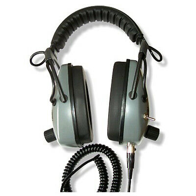 Gray Ghost NDT Headphones by DetectorPro with 2 x Leads