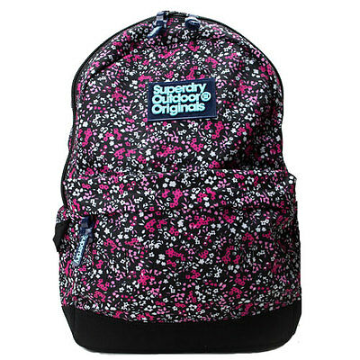 Superdry MS Scatter Ditsy Montana Backpack Black Pink
