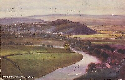 STIRLING, 1904, view from Abbey Crag