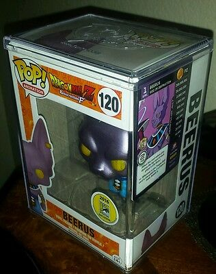 Sdcc Comic Con 2016 Funko Pop Dragon Ball Z Beerus #120 + 1 Profile Card