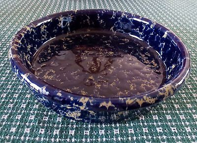 Bennington Potters Pottery Cobalt Blue Agate 10 in Round Baker Casserole Dish