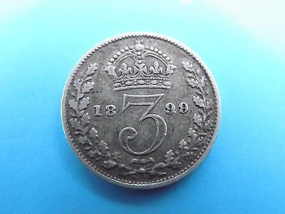 1899 SILVER - 3d - THREE PENCE