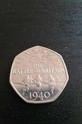 2015 Battle Of Britain 50P Coin 1 Day Auction