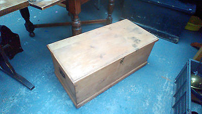 antique pine coffer blanket box coffee table 37 x 18 x 15 inch high