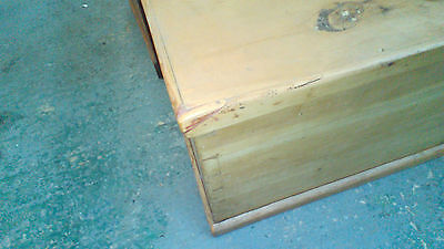 antique pine coffer blanket box coffee table with  candlebox