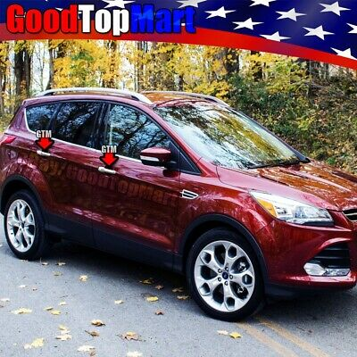 For 2013 2014 2015 Ford FOCUS & ESCAPE/KUGA Chrome 4 Door Handle Covers w/ Smart