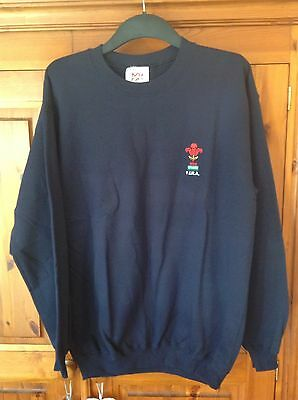 BNWT Mens Welsh Rugby Jumper, Navy, Size M