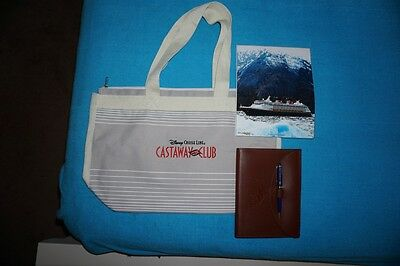 Disney Cruise Line Canvas Tote and Leather Bound Journal – NEW