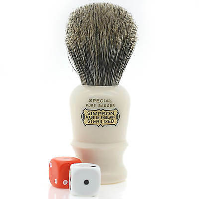 "The ""Special"" Pure Badger Shaving Brush from Simpsons Shaving Brushes (Red Box)"