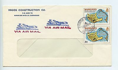 Bahamas cover used Spanish Wells 1984 commercial Higgs Construction (K387)