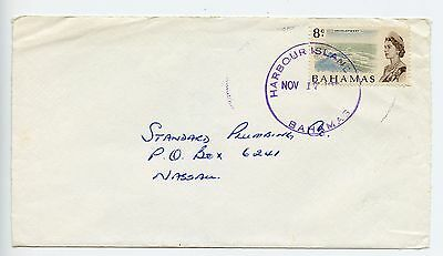 Bahamas cover used Harbour Island c1975 38mm CDS front only (K852)