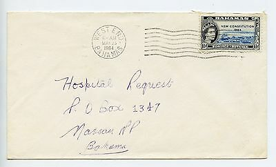 Bahamas cover used West End 1964 (K860)