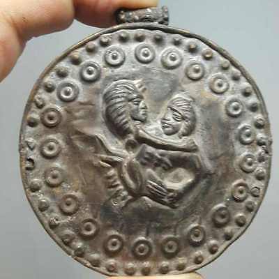 Stunning Old Medieval Amulet Pendant With Figures # L