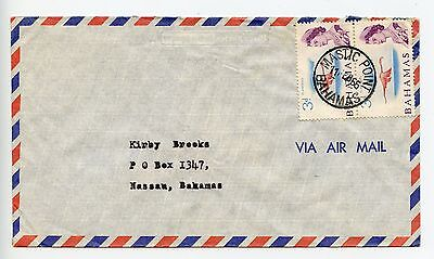 Bahamas cover used 1966 Mastic Point (L051)