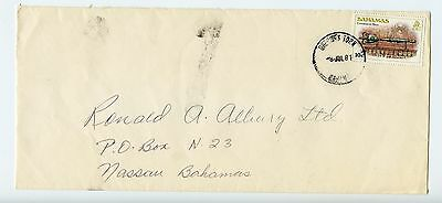 Bahamas cover used 1981 Gregorys Town (L050)
