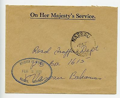Bahamas cover used Nassau 1971 Ministry of Works (L040)