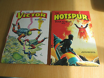 The Victor Book For Boys 1969 The Hotspur Book For Boys 1975