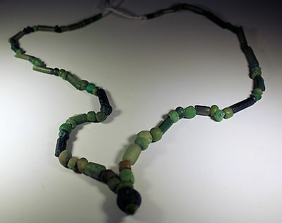 Beautiful Ancient Roman Glass Bead Necklace Circa 2Nd Century Ad - No Reserve!!