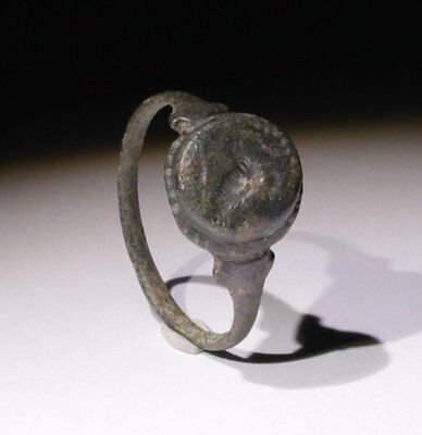 Quality Ancient Roman Bronze Seal Ring  Circa 2Nd Ad  - No Reserve!!!!