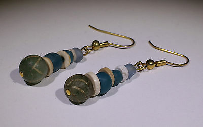 Ancient Roman Glass Bead Earrings - No Reserve!