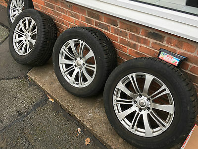 "SET OF 4 x 18"" ALLOY WHEELS WITH CONTINENTAL WINTER CONTACT TYRES 255/55 R18"