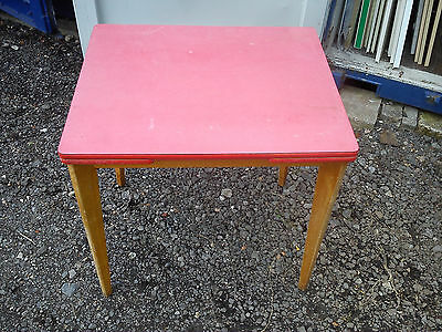 Formica Top Drawer Leaf Kitchen Table with Removable Legs Vintage Retro.