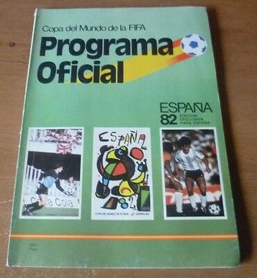 1982 - World Cup, Official Programme  *Spanish Edition*.