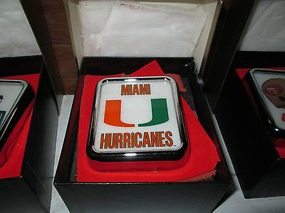 Miami Hurricanes Medallion Light by Armbruster products NEW,old ,overstock CAR