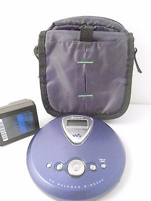 Sony D-NE300 BLUE Walkman -CD-R/RW - Fully Working with Carry Case and Charger