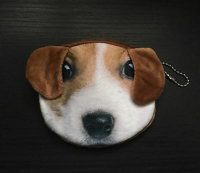 Super Cute Jack Russell Dog Soft Coin Purse, Great Gift