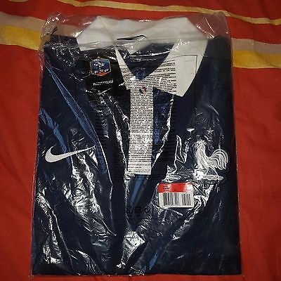 Polo Nike France Fff Manche Courte Taille L