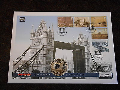 Coin First Day Cover - London Bridges