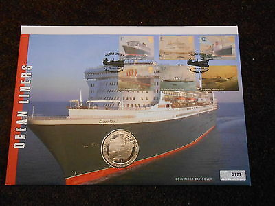 Coin First Day Cover - Ocean Liners