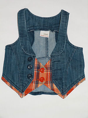 Next - Younger Girls Denim Fashion Waistcoat - To Fit Age 3 Years